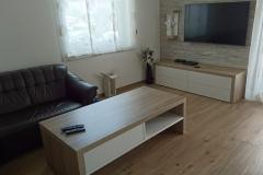 Končni izgled moderne dnevne sobe