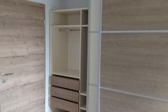 Izdelava vgradne omare v spalnici