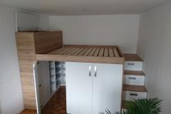 Moderna spalnica v garsonjeri